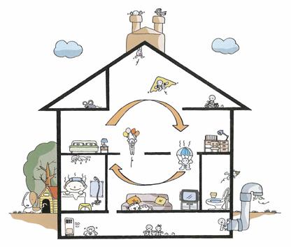 自然換気は魅力的。空気の流れは開放的な住宅の良さ 福島先生 図1
